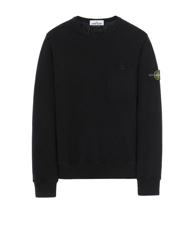 STONE ISLAND 63560 T.CO+OLD Sweatshirt Man Black EUR 174