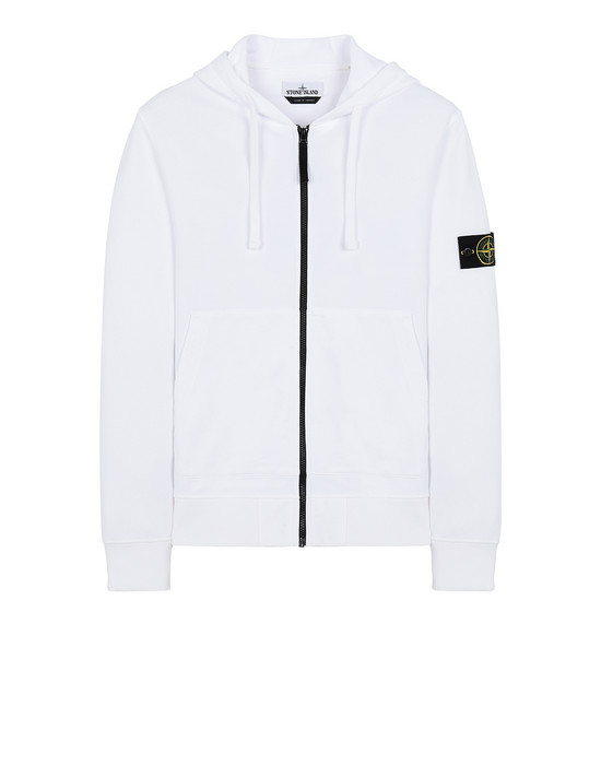 STONE ISLAND 64251 Zip sweatshirt Man White