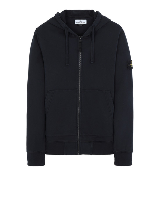STONE ISLAND 64251 Zip sweatshirt Man Blue