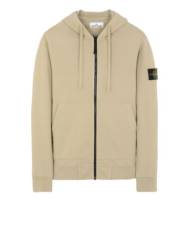 STONE ISLAND 64251 Zip sweatshirt Man Dark Beige USD 237