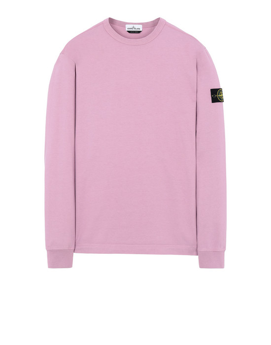 STONE ISLAND 64450 스웻셔츠 남성 핑크 쿼츠