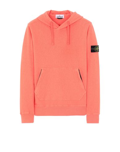 STONE ISLAND 64960 T.CO+OLD Sweatshirt Man Lobster Red EUR 186