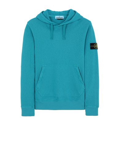 STONE ISLAND 64960 T.CO+OLD Sweatshirt Man Turquoise USD 182