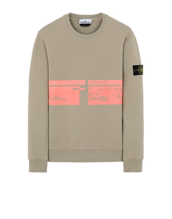 "STONE ISLAND 63094""DRONE THREE""  Sweatshirt Man Dark Beige"