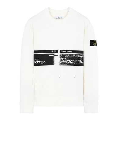 "STONE ISLAND 63094""DRONE THREE""  Sweatshirt Man Ivory USD 167"