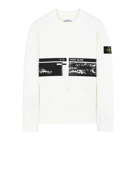 "STONE ISLAND 63094""DRONE THREE""  Sweatshirt Man Ivory"