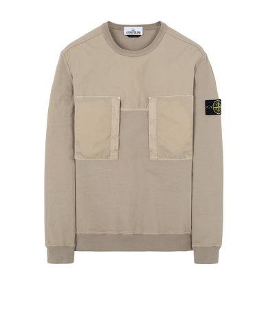 STONE ISLAND 61953 Sweatshirt Man Dark Beige EUR 186