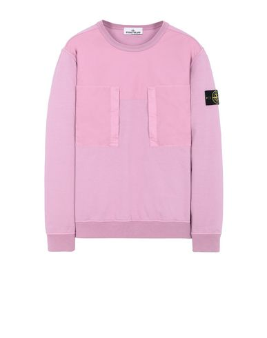 STONE ISLAND 61953 Sweatshirt Man Pink Quartz USD 343