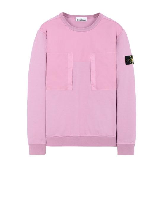 STONE ISLAND 61953 Sweatshirt Man Pink Quartz