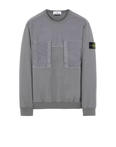STONE ISLAND 61953 Sweatshirt Man Blue Grey USD 183