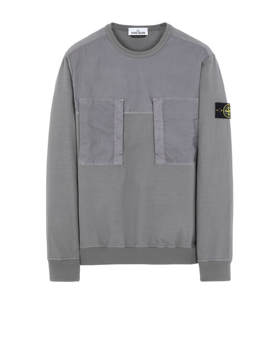 STONE ISLAND 61953 Sweatshirt Man Blue Grey