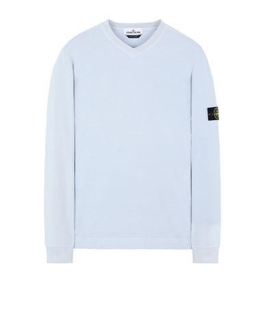 STONE ISLAND 64350 Sweatshirt Man Baby Blue EUR 163