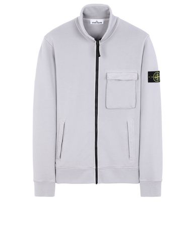 STONE ISLAND 63351 Zip sweatshirt Man Dust Gray USD 410