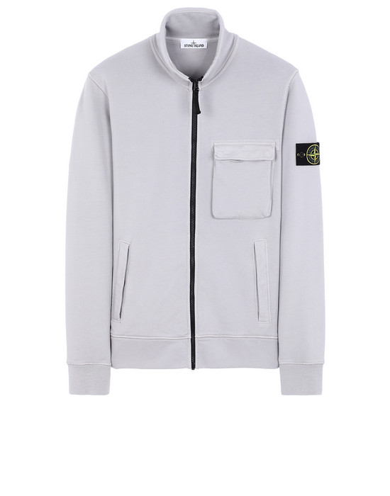 STONE ISLAND 63351 Zip sweatshirt Man Dust Gray