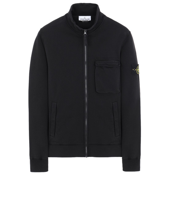 STONE ISLAND 63351 Zip sweatshirt Man Black