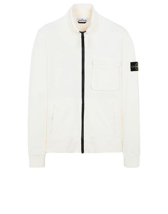 STONE ISLAND 63351 Zip sweatshirt Man Ivory