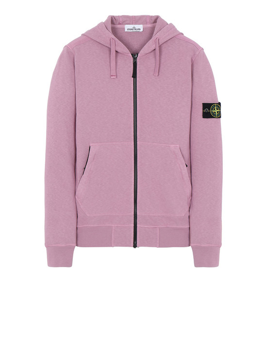 STONE ISLAND 64860 T.CO+OLD Sweatshirt Man Pink Quartz