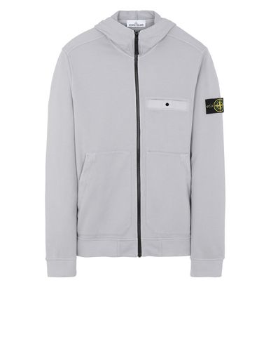 STONE ISLAND 61859 Zip sweatshirt Man Dust Gray EUR 237