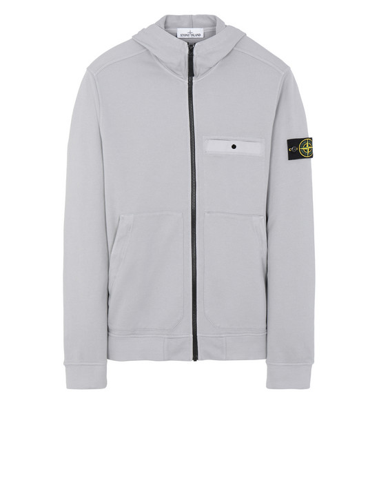 STONE ISLAND 61859 Zip sweatshirt Man Dust Grey