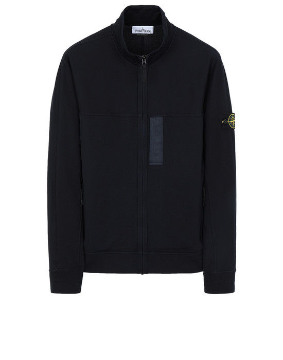 STONE ISLAND 62552 Zip sweatshirt Man Blue