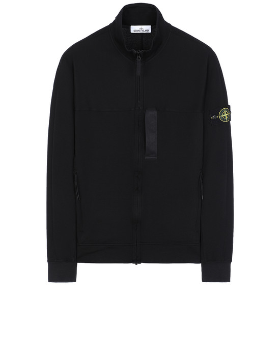 STONE ISLAND 62552 Zip sweatshirt Man Black