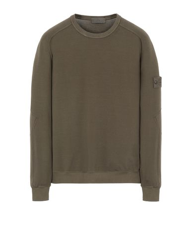 STONE ISLAND 637F3 GHOST PIECE Sweatshirt Man Military Green USD 375