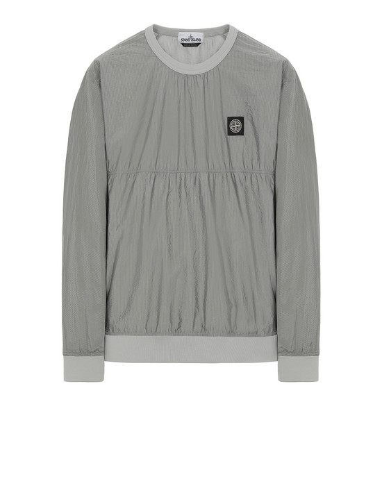 STONE ISLAND 66636 NYLON METAL RIPSTOP Sweatshirt Man Dust Gray