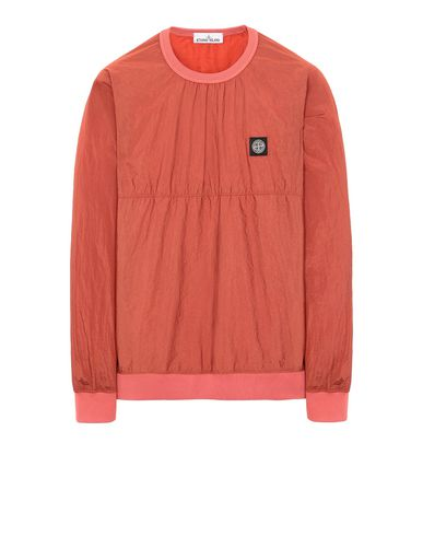 STONE ISLAND 66636 NYLON METAL RIPSTOP Sweatshirt Man Lobster Red USD 328