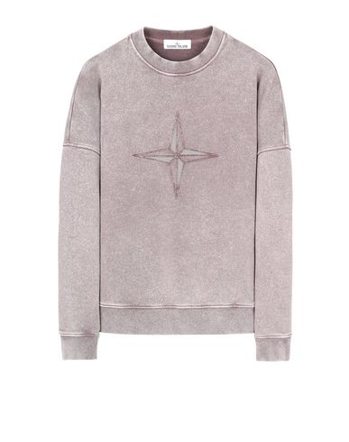STONE ISLAND 66254 FLECK TREATMENT Sweatshirt Herr MAHOGANY BROWN EUR 230