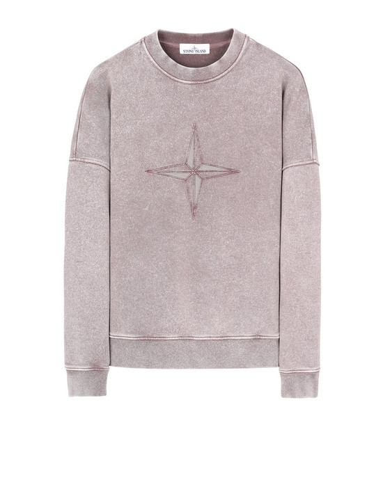 STONE ISLAND 66254 FLECK TREATMENT Sweatshirt Man MAHOGANY BROWN