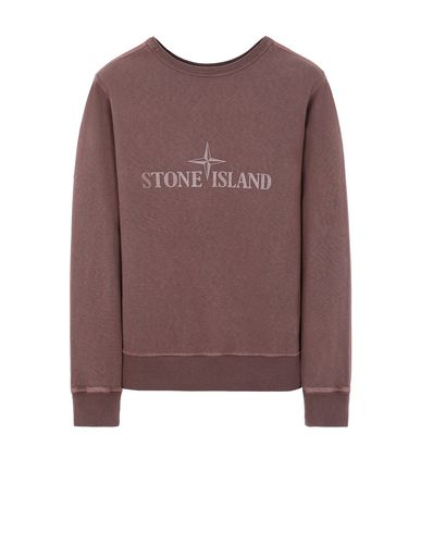 STONE ISLAND 64760 T.CO+OLD - DOUBLE FRONT Sweatshirt Herr MAHOGANY BROWN EUR 188