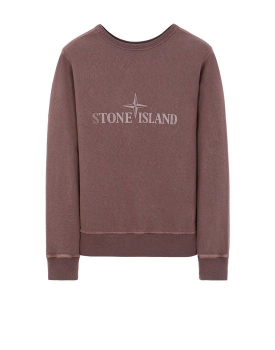 STONE ISLAND 64760 T.CO+OLD - DOUBLE FRONT Sweatshirt Man MAHOGANY BROWN