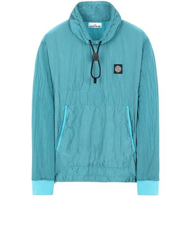 STONE ISLAND 65136 NYLON METAL RIPSTOP Sweatshirt Man Turquoise EUR 399