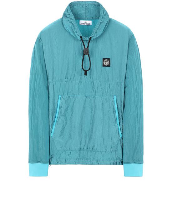 STONE ISLAND 65136 NYLON METAL RIPSTOP Sweatshirt Man Turquoise