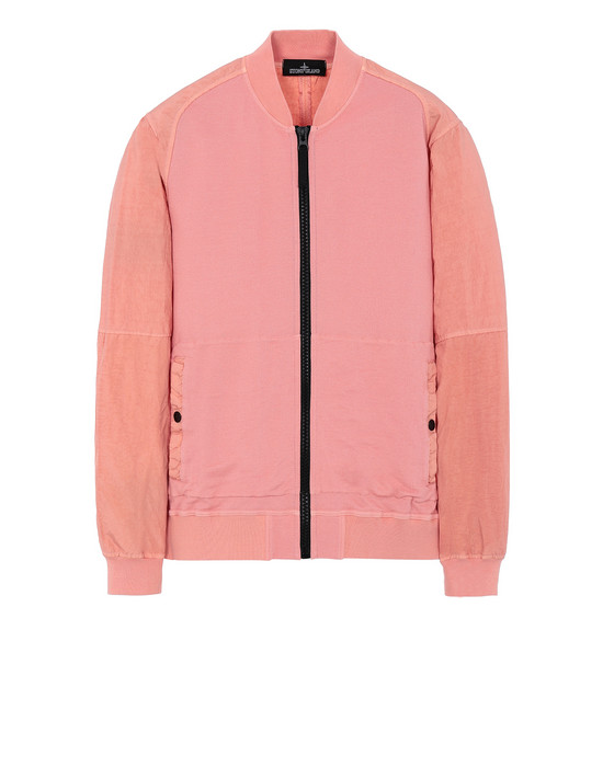 STONE ISLAND SHADOW PROJECT 60107 COMPACT BOMBER JACKET Sweatshirt Man Salmon pink