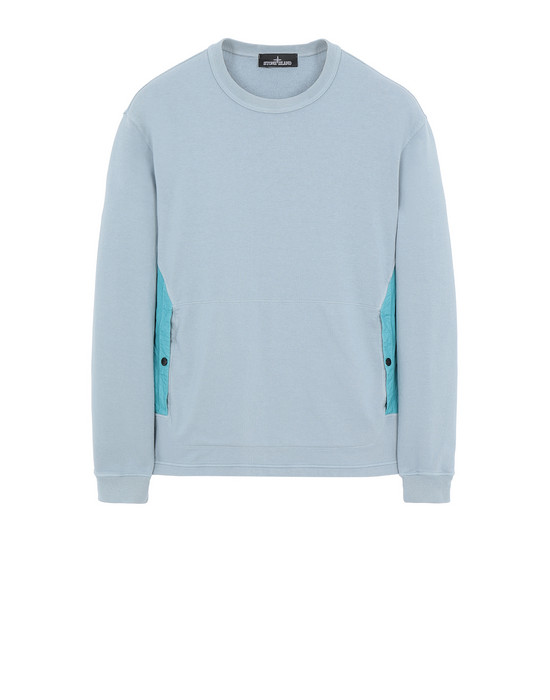 STONE ISLAND SHADOW PROJECT 60708 FLANK POCKET CREWNECK Sweatshirt Herr Perlgrau