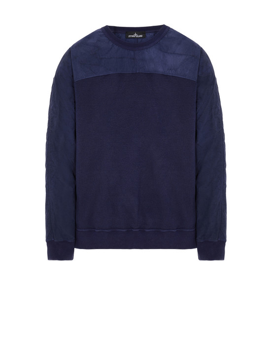 STONE ISLAND SHADOW PROJECT 60507 COMPACT CREWNECK Sweatshirt Man Blue