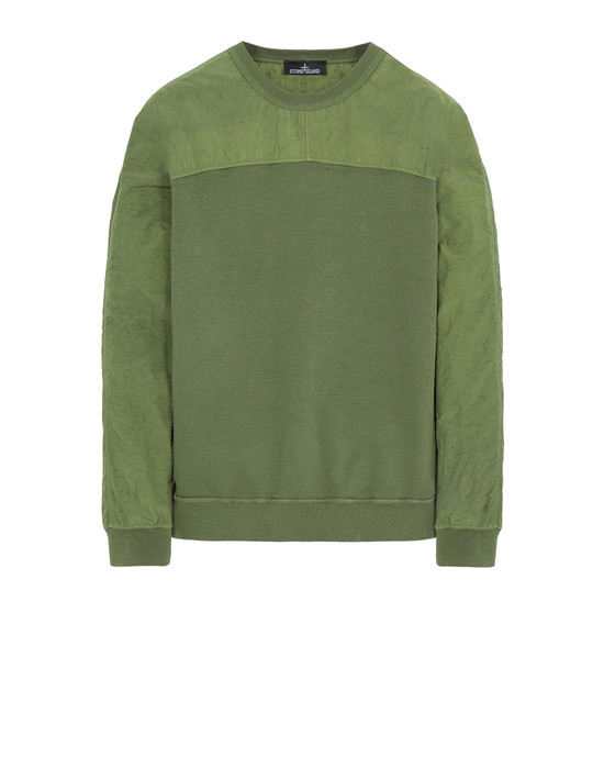 STONE ISLAND SHADOW PROJECT 60507 COMPACT CREWNECK Sweatshirt Man Olive Green