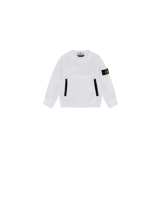 STONE ISLAND JUNIOR 62442 Sweatshirt Man White