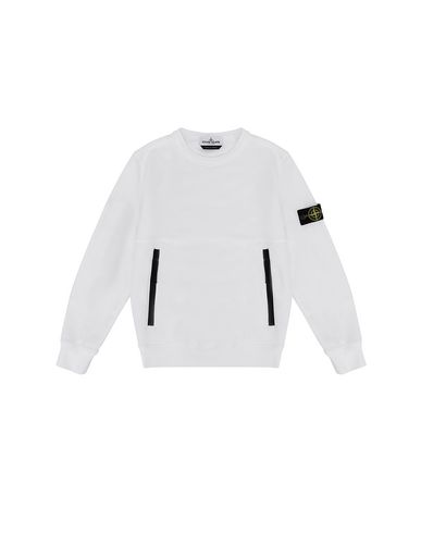 STONE ISLAND JUNIOR 62442 Sweatshirt Man White EUR 155
