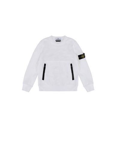 STONE ISLAND KIDS 62442 Sweatshirt Man White USD 109