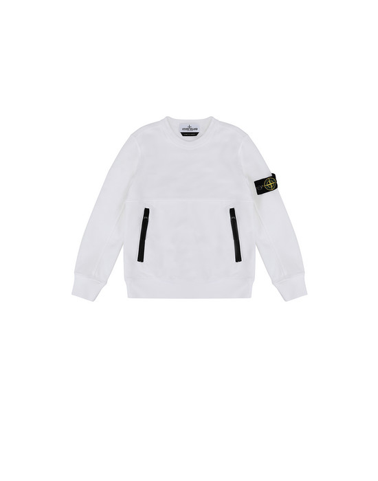 STONE ISLAND KIDS 62442 Sweatshirt Man White