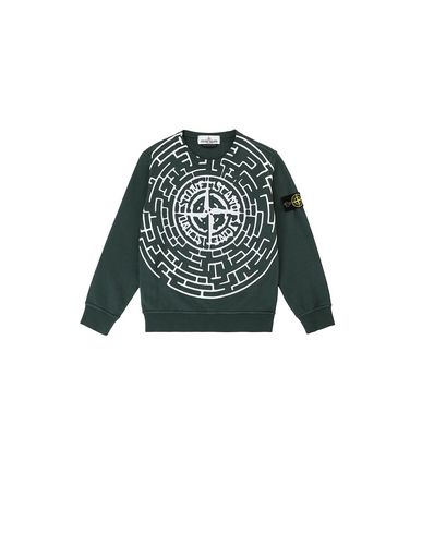 STONE ISLAND KIDS 62940  Sweatshirt Man Bottle Green EUR 133