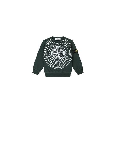 STONE ISLAND BABY 62940  Sweatshirt Man Bottle Green EUR 127