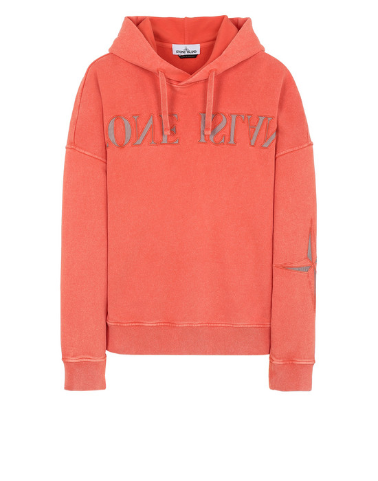 STONE ISLAND 66154 FLECK TREATMENT  Sweatshirt Man Lobster Red