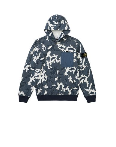 STONE ISLAND JUNIOR 62543 CAMOUFLAGE Sweatshirt Man Blue USD 154