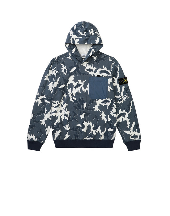 STONE ISLAND JUNIOR 62543 CAMOUFLAGE Sweatshirt Man Blue