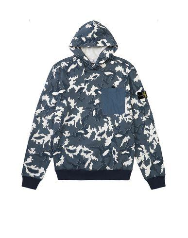 STONE ISLAND TEEN 62543 CAMOUFLAGE Sweatshirt Man Blue EUR 198