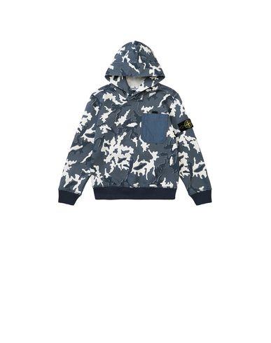 STONE ISLAND KIDS 62543 CAMOUFLAGE Sweatshirt Man Blue EUR 102