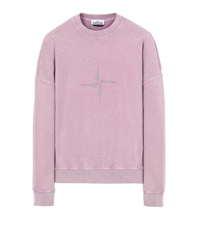 STONE ISLAND 66254 FLECK TREATMENT Sweatshirt Man Pink Quartz EUR 176